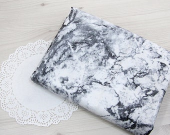Marble Black Laminated Cotton Fabric - By the Yard 96035