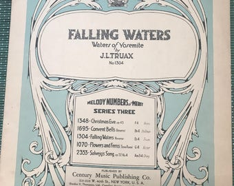 Falling Waters - Waters of Yosemite Sheet Music by J.L. Truax