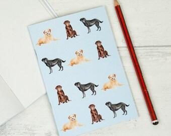 Labrador Dog Gift Notebook Small Blank Pocket Size Notepad