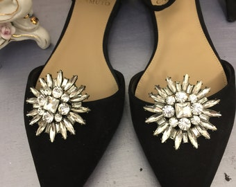 Vintage Inspired, Bridal, Formal, Evening  Rhinestone Shoe Clips