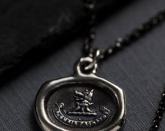 Wolf Wax Seal Necklace - Ready for Anything