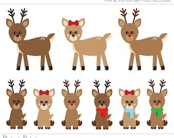 Commercial Use Clipart, Commercial Use Clip Art, Reindeer Clipart, Christmas Clipart, Cute Reindeer, Commercial License, Commercial Clipart