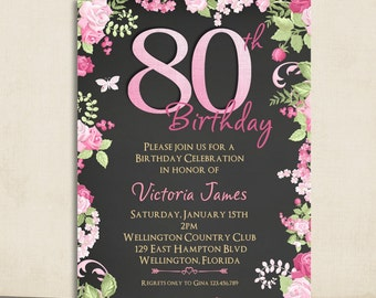 80th Birthday Invitation Barca Fontanacountryinn Com