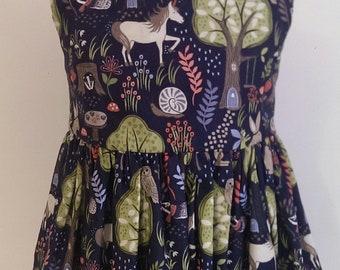 Enchanted Forest Sleeveless Dress, girl's dress, woodland dress, party dress