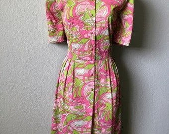 1960s Pennypacker nylon dress