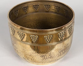 20th Century French Brass Cache Pot