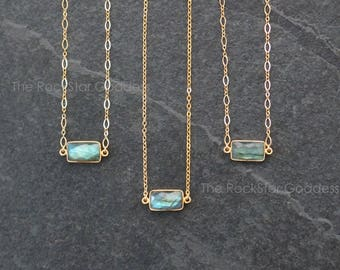 Labradorite Necklace / Gemstone Necklace / Labradorite Jewelry