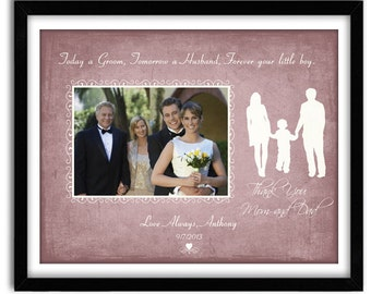 Thank You Mom and Dad Gift, Mother of Groom Gift,  Wedding Gift Parents for Parents of Groom, Wedding Gift Personalized 11x14 Print