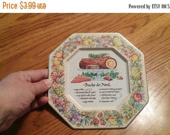 On Sale Avon Products Octagon Tip Tray with Buche de Noel Recipe Decorative Kitchen
