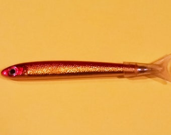 "Vintage Shimmery Fish Minnow NOVELTY Pen 5-1/2"" Long - Boxed"