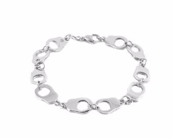 Women's Stainless Steel Handcuff Bracelet USA Seller!
