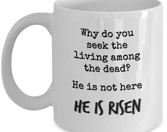 Mug with Scripture | Jesus quote | Coffee and Jesus mug | Easter Mug