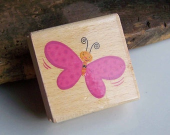 Butterfly Stamp, Wood Mounted Stamp, Butterfly, Card Making, Scrapbooking, Craft Making, Craft Supplies