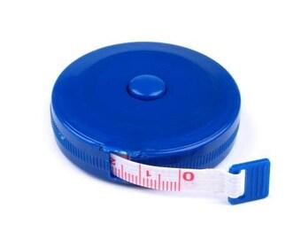 Measuring tape tape measure 150 cm in blue self aufrollend