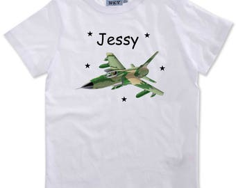 T-shirt boy airplane personalized with name