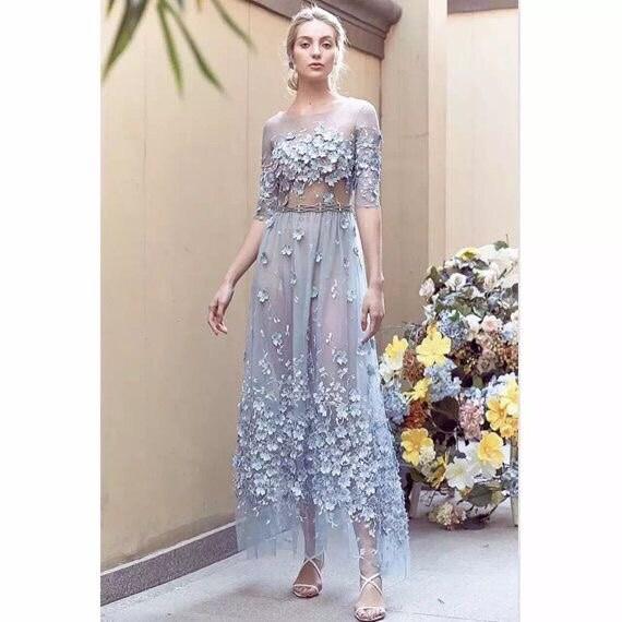 Latest 3d Lace Design Floral Guipure Lace Fabric Bridal Gown