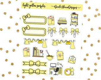 Light Yellow Sampler, Bow Planner Stickers