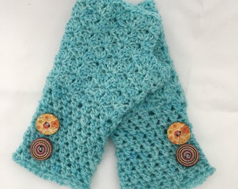 Handmade Crochet Fingerless Gloves / Wristwarmers
