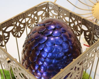 Purple/magenta Color Changing Giant Dragon Egg in Gold Cage