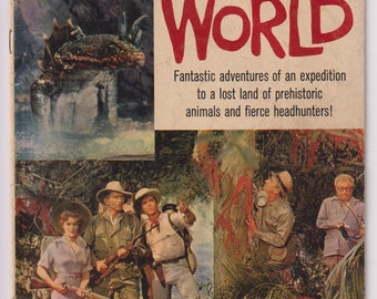 Four Color Comics: The Lost World; Vol 2, 1145, Silver Age Comic Book. VG (4.0). 1960. Dell Comics.