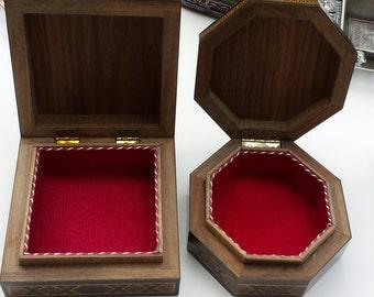 Wooden Jewelry Box, Jewelry boxes, wood inlay art, Syrian Mosaic, Marquetry box, Trinket box, Keepsake box, Jewelry storage, Wooden decor