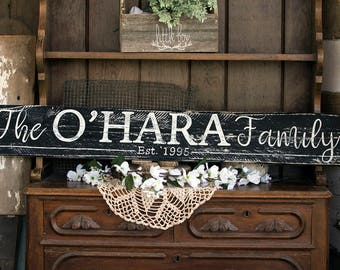 Personalized Shiplap Sign / Custom Sign / Established Sign / Name Sign / Family Sign / Custom Name Sign / White sign / Black Sign / Rustic
