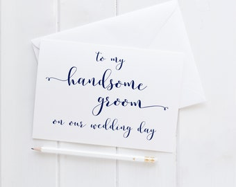 To My Handsome Groom Card. Groom Card For Wedding Day. To Groom On Wedding Day. Wedding Day Groom Card. To Groom On Wedding Day. Groom Card.