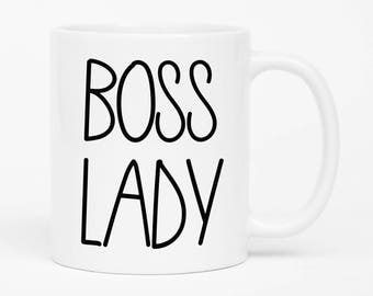 Boss Lady Mug, Gift for Boss, Girl Boss, Lady Boss Mug, Feminist Mug, Boss Gift, Coffee Mug for Boss, Office Mug, Work Mug