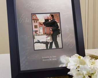 Personalized Framed Guest Book Rustic Wedding Guestbook
