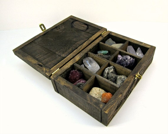 Made to Order Stained Pallet Wood Jewelry Box with