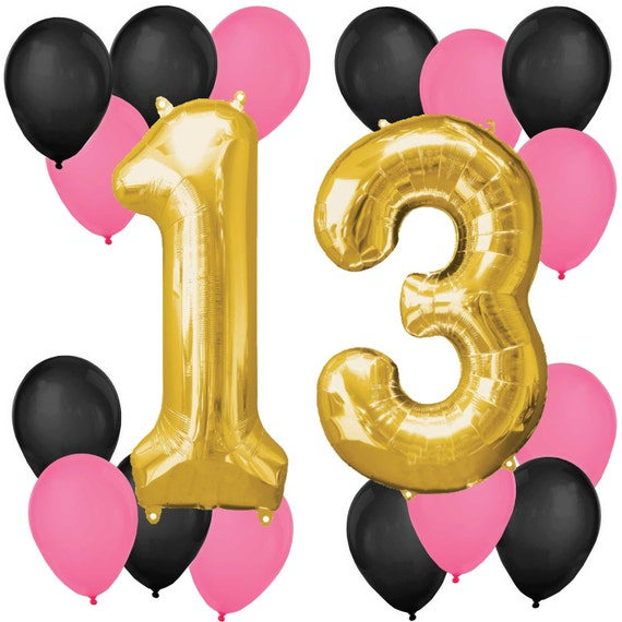 13th Birthday Balloon Bouquet Balloon Kit For A Birthday