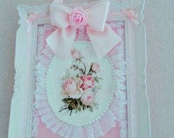 Rose cottage shabby chic frame
