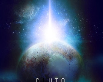 Dwarf Planet Pluto Wall  decor poster