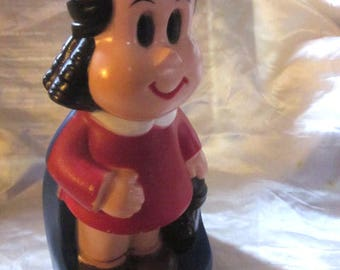 LITTLE LULU BANK/ Coin Purse, Lulu Puffy Stickers,Western Publishing Lulu Collectibles, Comic & Cartoon Character, Little Lulu And Tubby