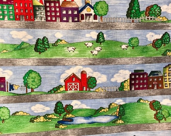 Farm and City Rolling Hills Landscape Fabric, Hills and Dales, P&B Textiles