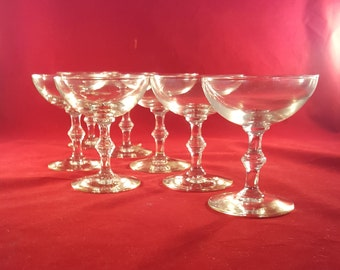 Set of 10 * Spindle Stem Champagne Coupe Glasses