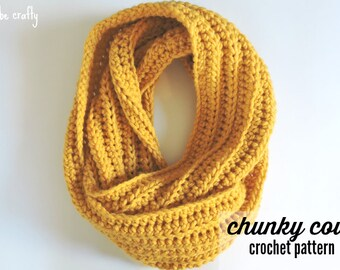 Crochet Chunky Cowl Pattern, Crochet Cowl Pattern, Chunky Cowl Pattern, Easy Crochet Cowl Pattern, Crochet Scarf Pattern - PDF Download