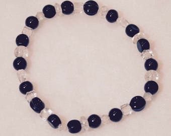 Black and Clear Beads Bracelet