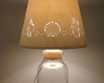 Add your Own Seashell Lamp - Fillable Lamp - Shell Lamp - Seashells - Lamps  -
