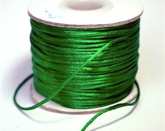 DrawString Satin green diam.: 1 mm