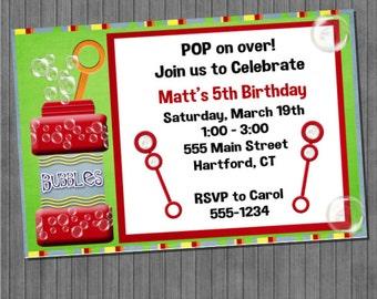 Bubble Birthday Invitations