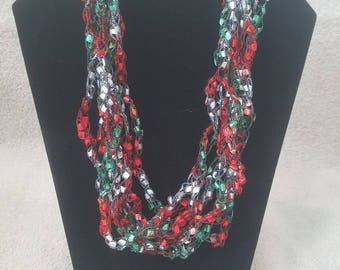 Ladder Necklace - Red, White, Green