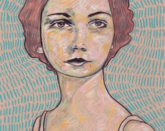 Portrait Giclee Art Print 5x7