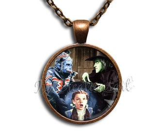 Wizard of Oz Flying Monkey - Round Glass Dome Pendant or with Necklace by IMCreations