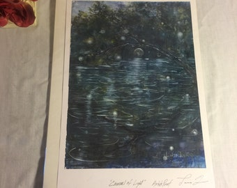 "Channel of light Artists Proof by Laurie Tenpas- 19 1/2"" by 12 1/2"""