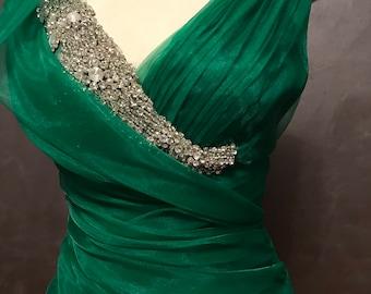 Emerald green dress Summer Sale!
