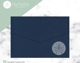 Navy Eco Grande Envelopes 130x190mm // Pack 10 // Fits 5x7in Invites