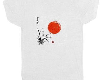 Japanese Warrior Samurai Sun Abstract Karate Martial Arts Chinese Retro T Shirt