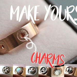 Customize Your Rings | Multistone Rings + Charms | Choose the charms! Customizable Karlat Ring.
