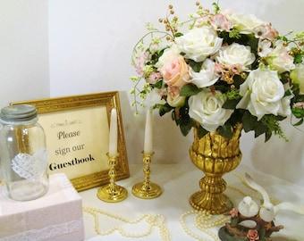 Vintage rustic wedding guest book | Etsy